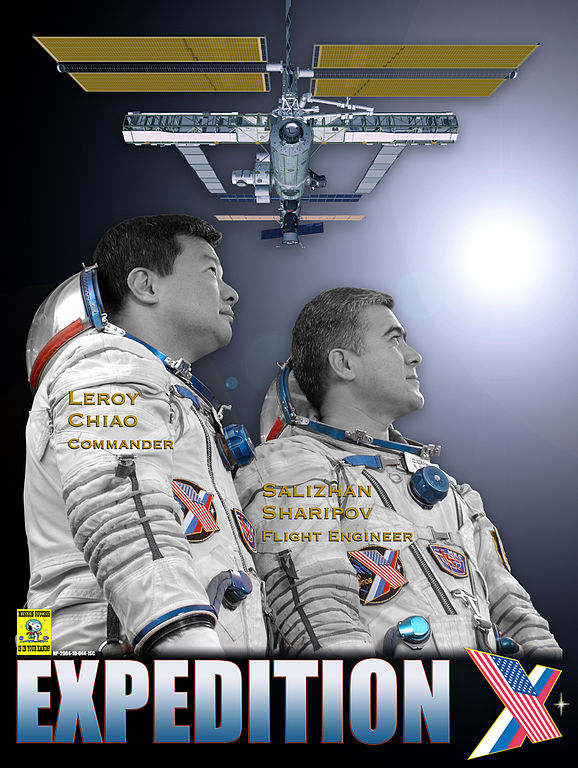 Expedition 10 crew poster. Image credit Wikimedia