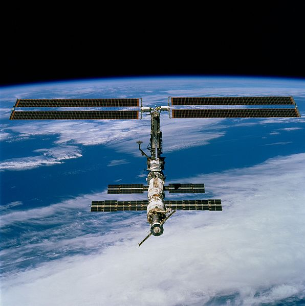A view of the ISS taken as STS-97 departed. Image credit Wikimedia