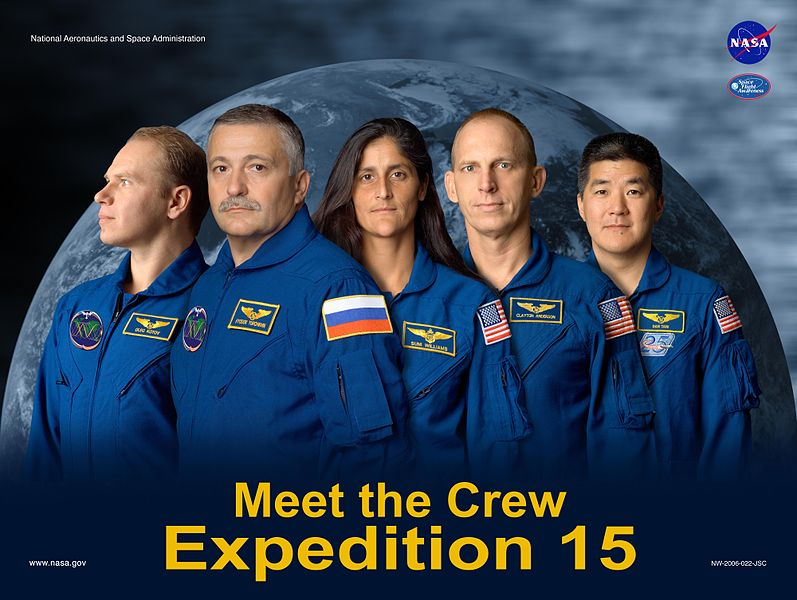 Expedition 15 Crew Poster. Image credit Wikipedia
