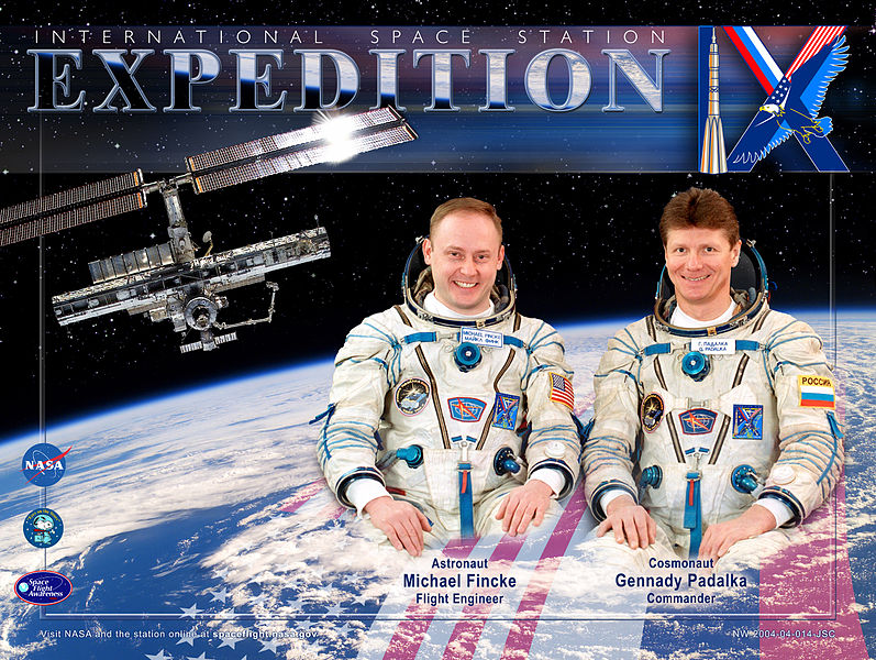 Expedition 9 crew poster. Image credit Wikimedia