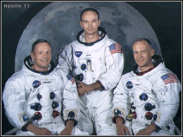 The Apollo 11 Crew. Image credit Smithsonian National Air and Space Museum