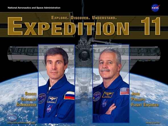 Expedition 11 poster. Image credit Wikimedia