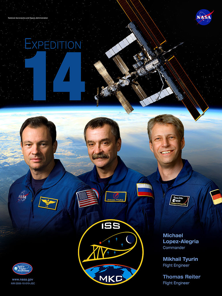 Expedition 14 Poster with Thomas Reiter