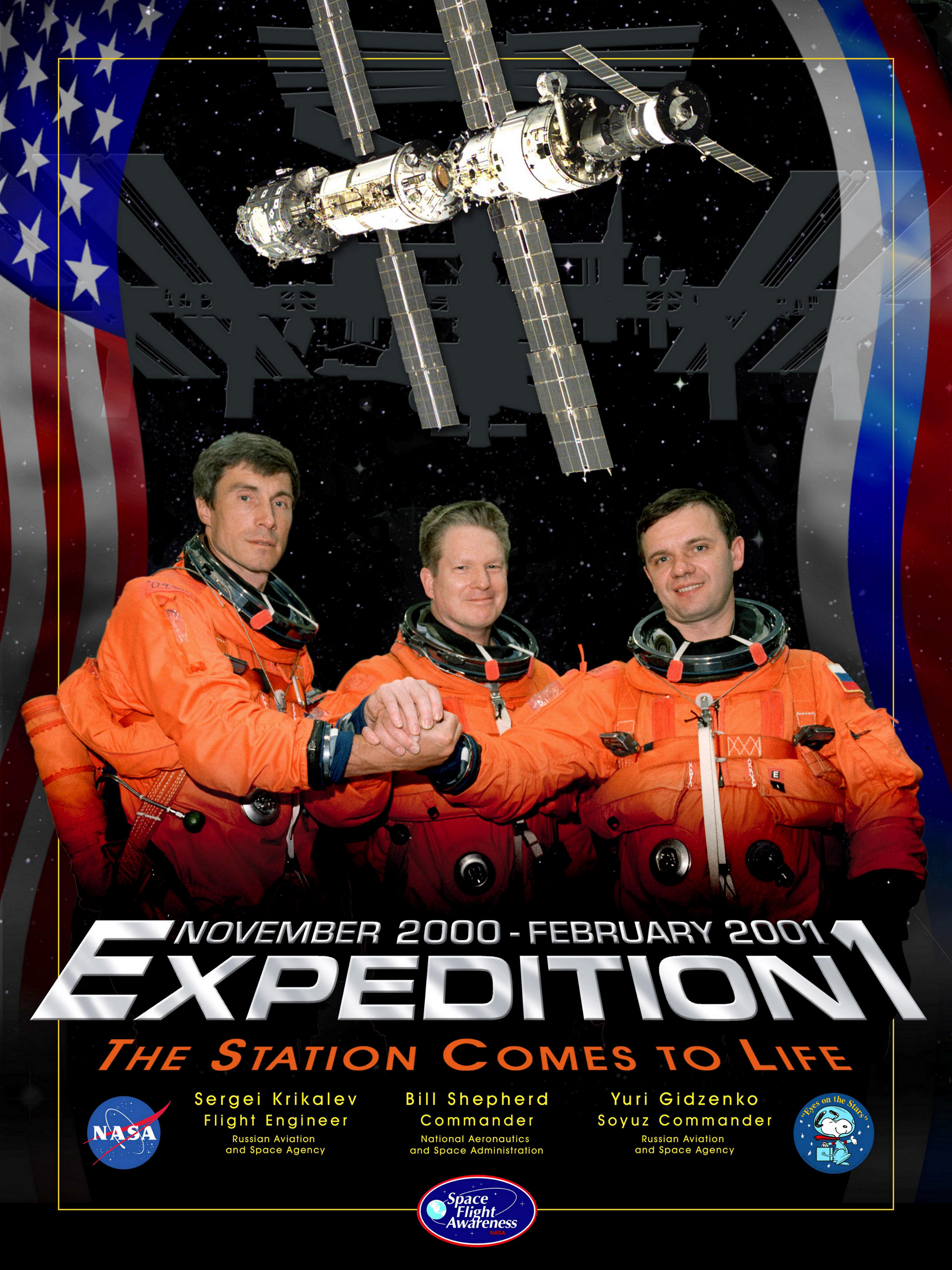 Expedition 1 crew poster