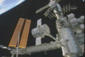 Harmony being moved to its temporary home on Unity. Image credit Space.com