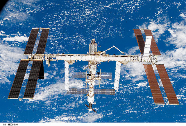 International Space Station after STS-118. Image credit Flickr
