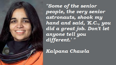 kalpana chawla hindi Born july 1, 1961 i karnal, india kalpana chawla received a bachelor of science  degree in aeronautical engineering from punjab engineering college, india,.