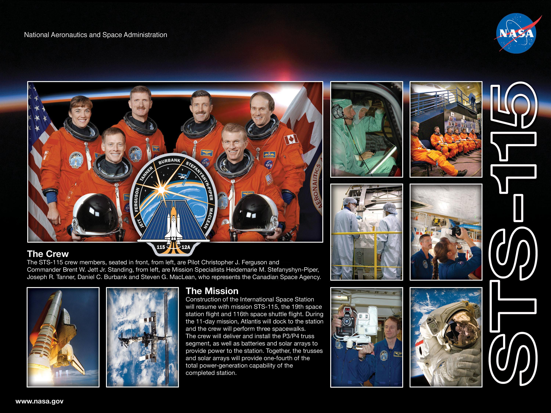 STS-115 crew poster. Image credit NASA