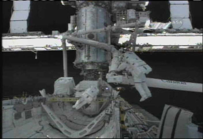 STS-121 EVA #1. Image credit Space.com