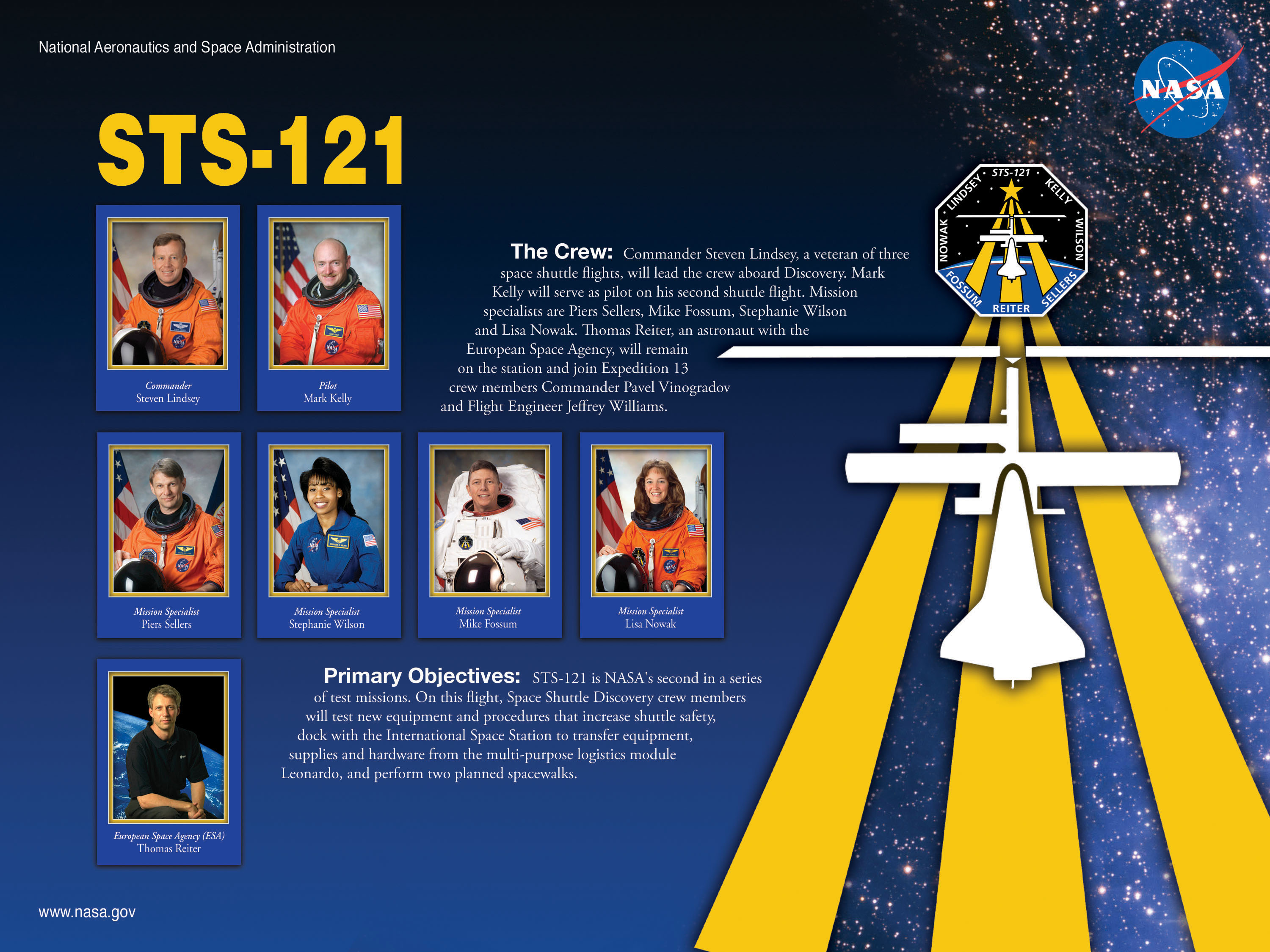 STS-121 Mission Poster. Image credit NASA