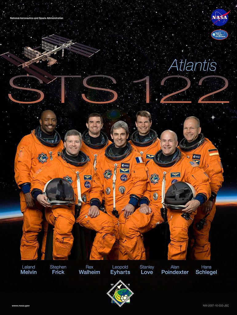 STS-122 crew poster. Image credit NASA