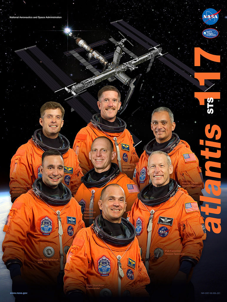 STS-117 crew poster. Image credit Wikimedia