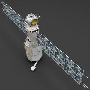 A 3D model of Zvezda. Image credit Turbosquid