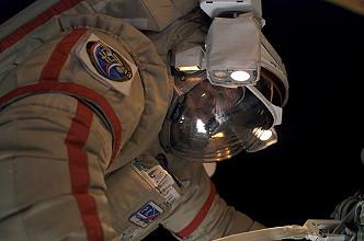 Vinogradov during an EVA. Image credit Space Facts