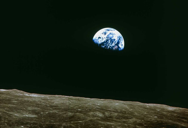Earthrise, as seen by the crew of Apollo 8 as they orbited the Moon. Image Credit: Redding