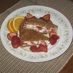 The Strawberry-Cream Cheese Sandwich. Image credit: AllRecipes
