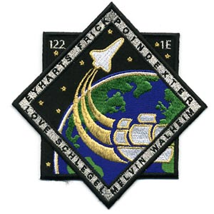 STS-122 patch. Image credit Space Flight Now