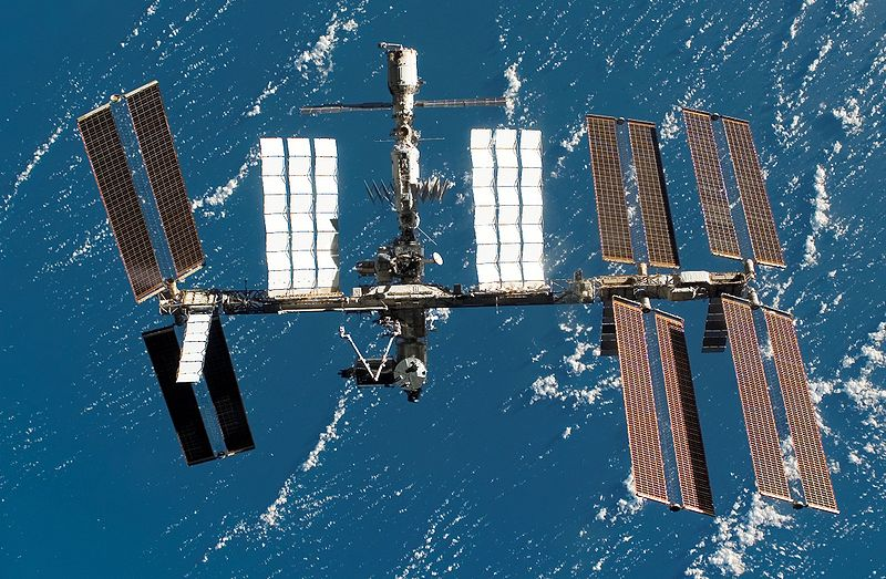 The International Space Station as seen from the departing STS-123. Image credit Wikimedia