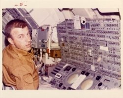 Paul Weitz works with the ATM. Image credit: Apollo Mission Photos
