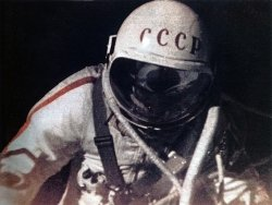 Leonov during his EVA.