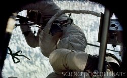 Skylab 2 handles an EVA. Image credit Science Photos