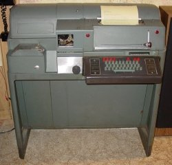 The teletype machine used by early Mission Control might have looked like this one.