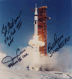 Skylab 4 autographed picture. Image credit William Pogue's Website