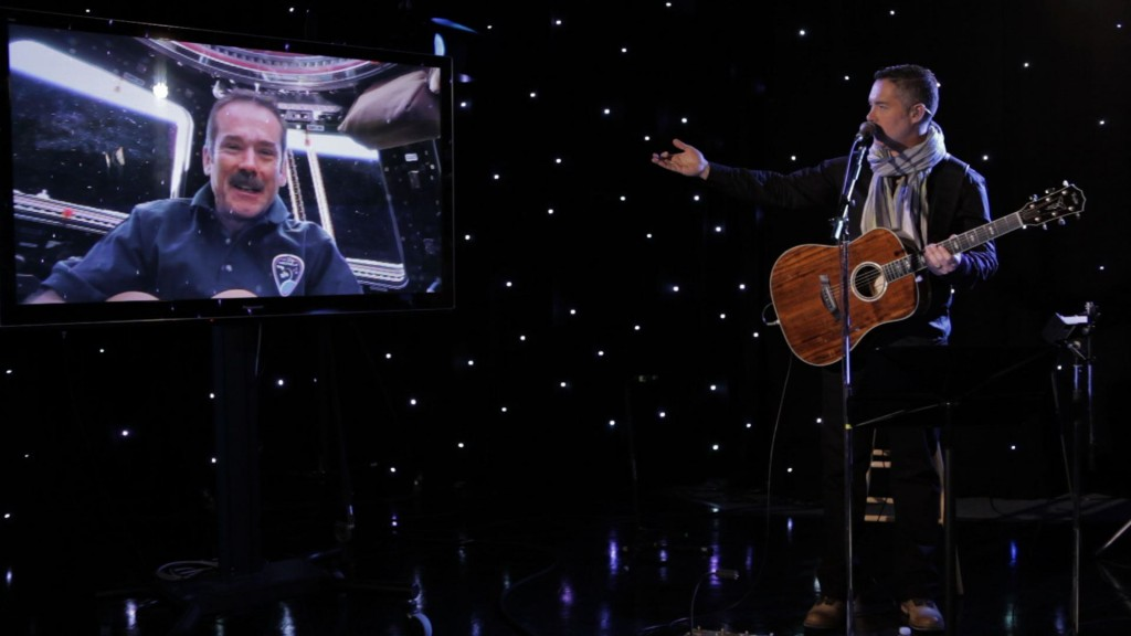 Chris Hadfield with Barenaked Ladies. Image credit Empower Network