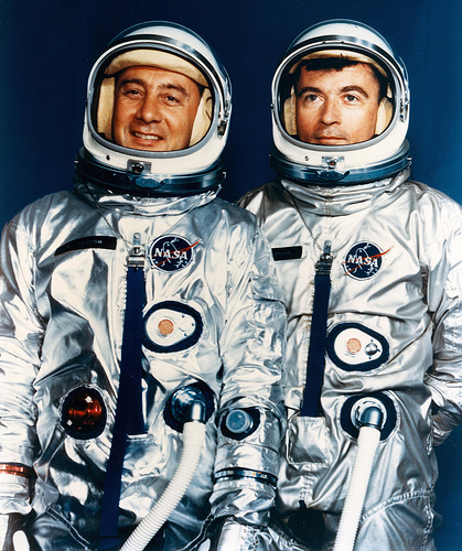 Gus Grissom and John Young. Image credit FlickRiver