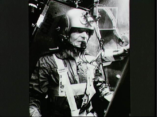 Scott Carpenter trains in the centrifuge. Image credit Apollo Explorer