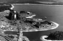An early aerial view of Walt Disney World. Image credit World Culture Pictorial.
