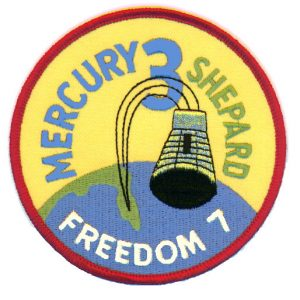 Freedom 7 Patch. Image credit NASA