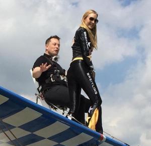 Elon Musk getting ready for wingwalking. Image credit Maye Musk