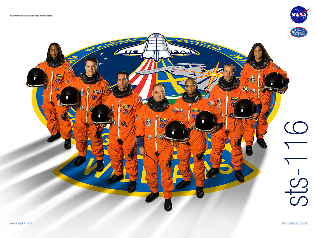 The STS-116 poster. Image credit Wikipedia