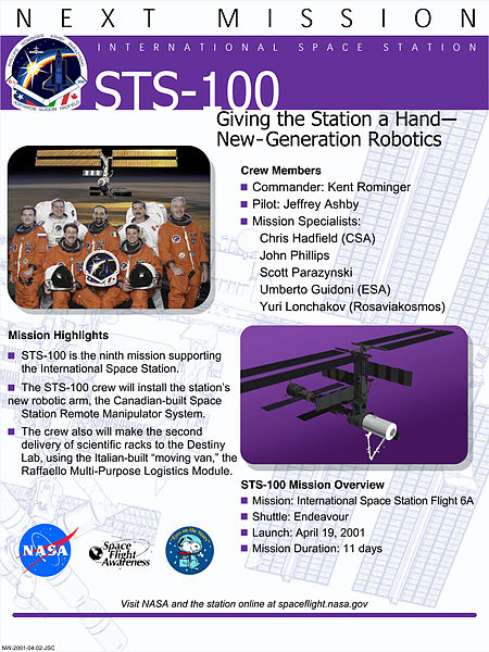 STS-100 Fact Sheet