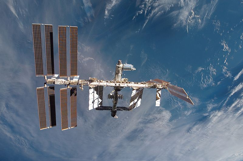 The International Space Station with Columbus. Image credit NASA