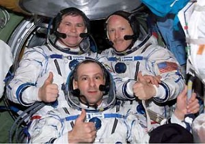 The Expedition 6 crew. Image credit NASA