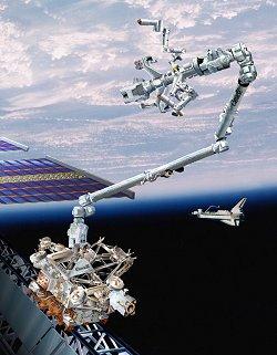Canadarm2. Image credit NASA