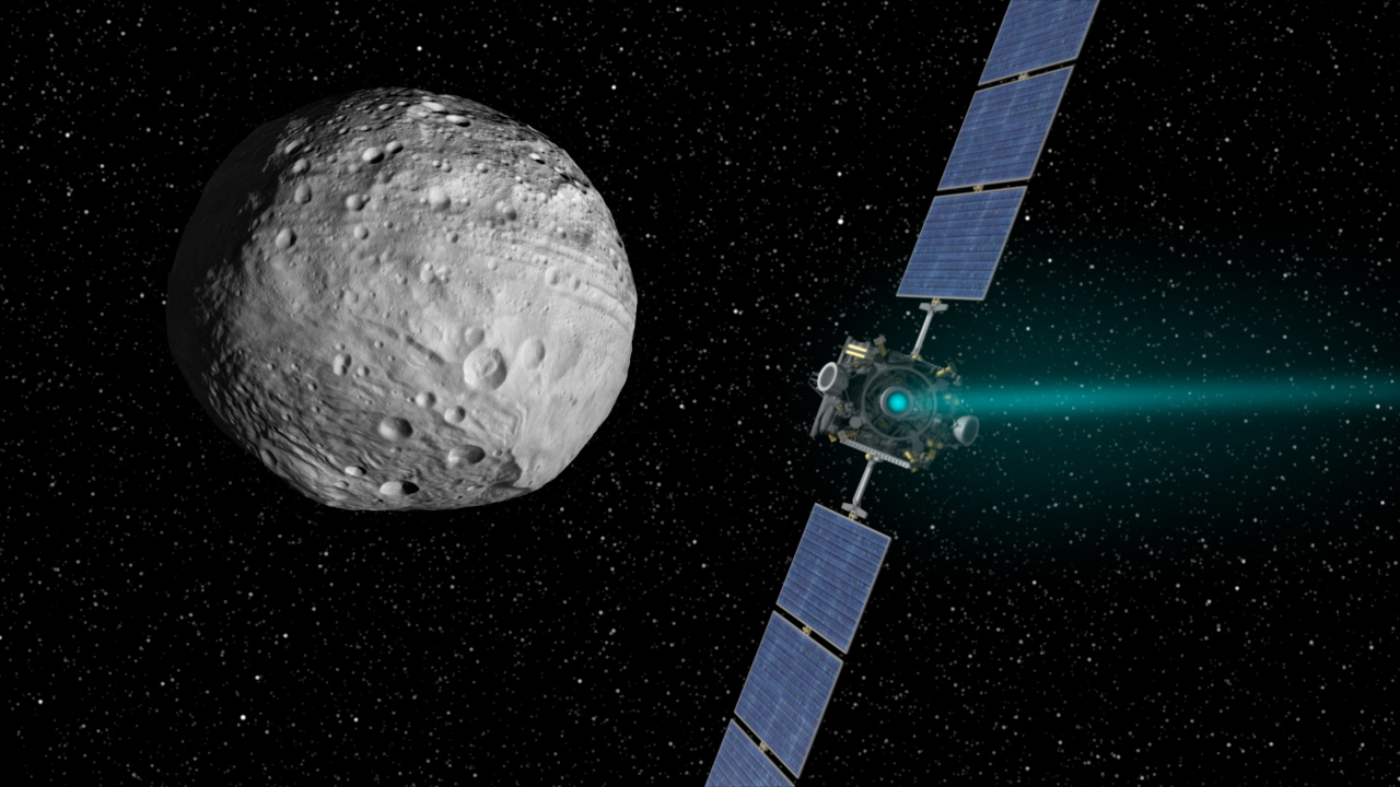 An artistic rendition of the Dawn probe, which is expected to approach Ceres in early 2015. Image credit NASA