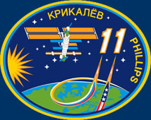 Expedition 11 patch. Image credit NASA