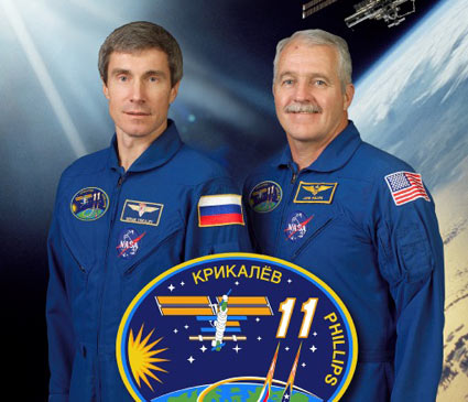 Sergei Krikalev and John Phillips. Image credit NASA