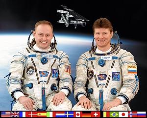 Michael Fincke (left) and Gennadi Ivanovich Padalka. Image credit Space Facts