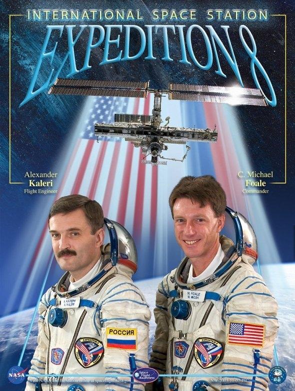 Expedition 8 Poster. Image credit NASA