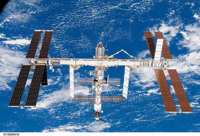 International Space Station after STS-118. Image credit Flickr