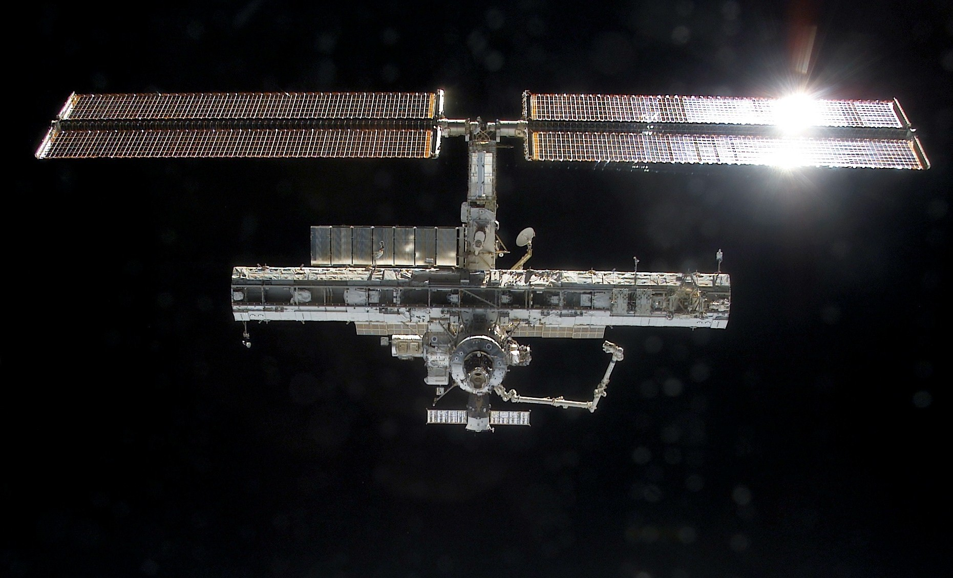 International Space Station with P1 Truss. Image credit Wikimedia