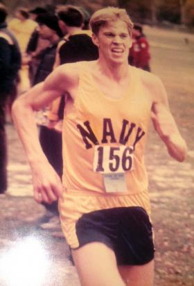 William McCool on Navy track team.