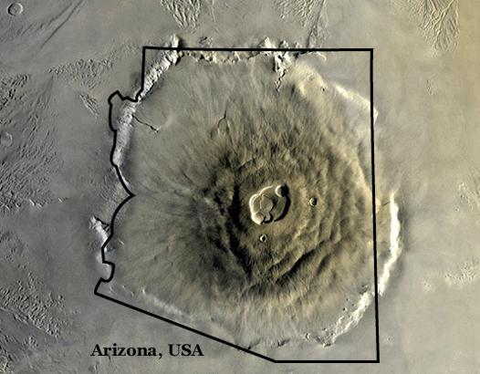 Olympus Mons aerial view