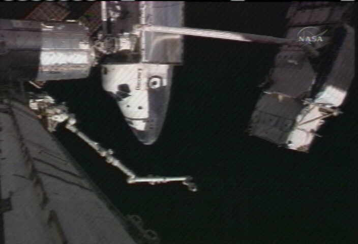 The P6 waits to be handed off to the Canadarm2. Image credit Space.com