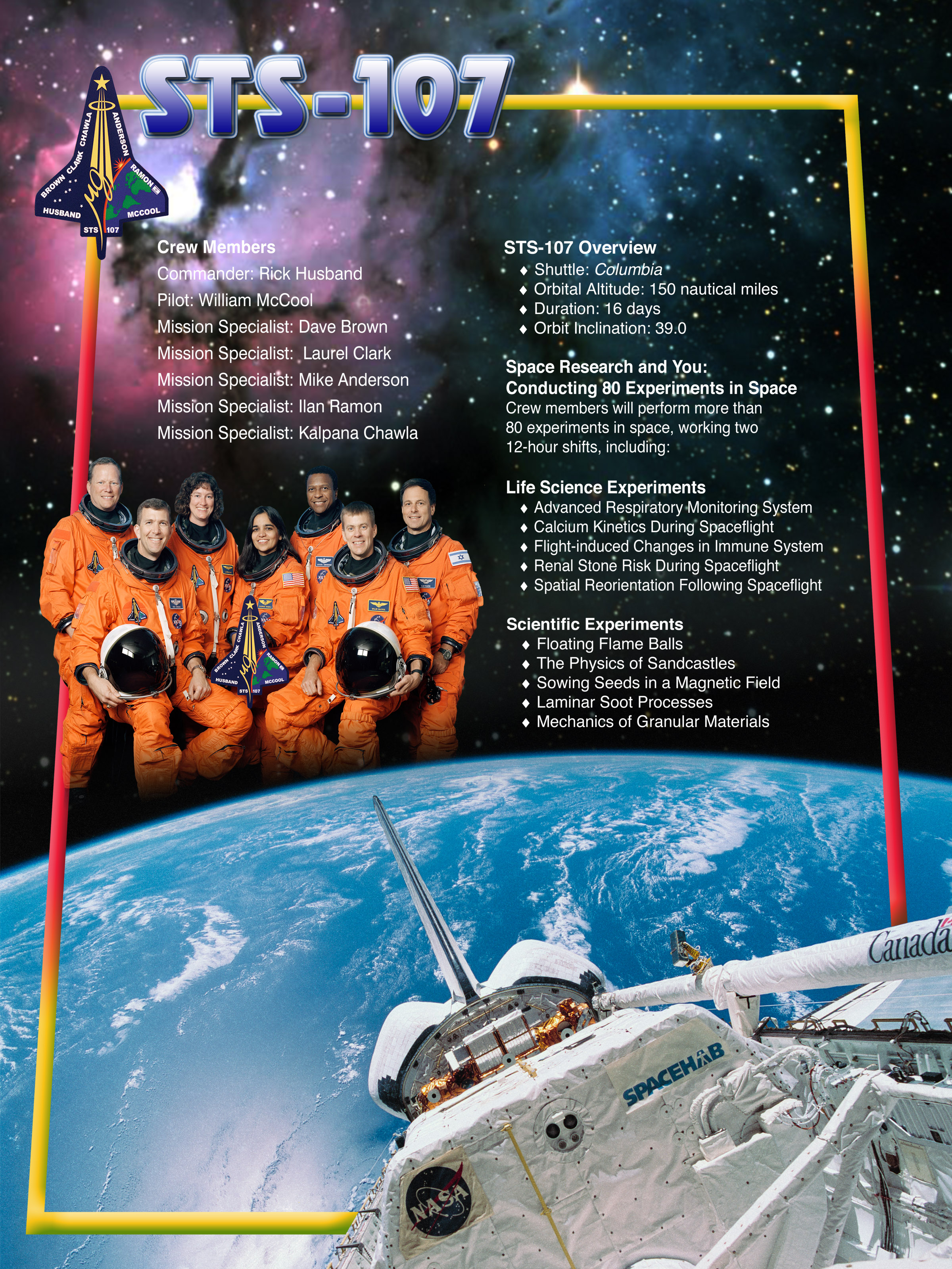 STS-107 Mission Poster