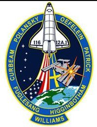 STS-116 Patch. Image credit NASA